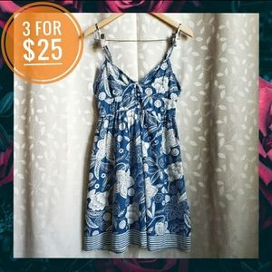 Aeropostale Hawaiian Floral Print Dress Blue XS